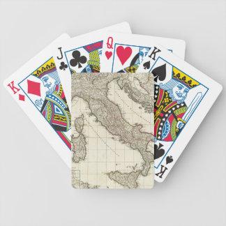Mapa del vintage de Italia (1764) Baraja Cartas De Poker