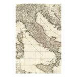 Mapa del vintage de Italia (1764) Papeleria De Diseño