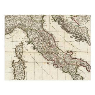 Mapa del vintage de Italia (1764) Postal