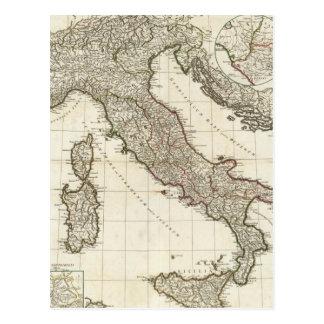 Mapa del vintage de Italia (1764) Tarjeta Postal