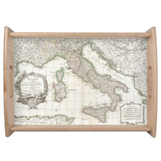 Mapa del vintage de Italia (1770) Bandejas
