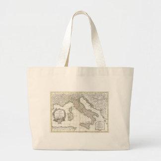 Mapa del vintage de Italia (1770) Bolsa Tela Grande
