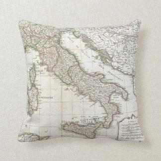 Mapa del vintage de Italia (1770) Cojin