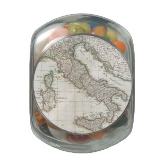 Mapa del vintage de Italia (1770) Frascos De Cristal Jelly Belly