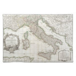 Mapa del vintage de Italia (1770) Mantel Individual