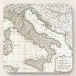Mapa del vintage de Italia (1770) Posavasos De Bebidas