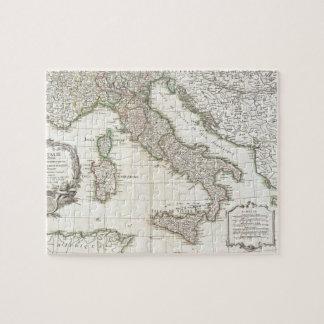 Mapa del vintage de Italia 1770 Puzzle Con Fotos