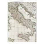 Mapa del vintage de Italia (1770) Tarjetón