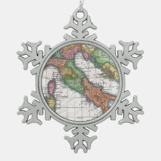 Mapa del vintage de Italia (1780) Adorno