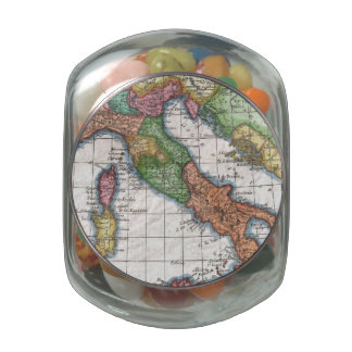 Mapa del vintage de Italia (1780) Jarrones Cristal