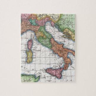 Mapa del vintage de Italia (1780) Rompecabeza Con Fotos