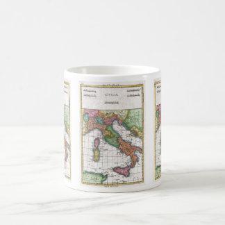 Mapa del vintage de Italia (1780) Taza
