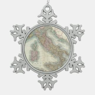 Mapa del vintage de Italia (1799) Adornos