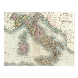 Mapa del vintage de Italia (1799) Postales