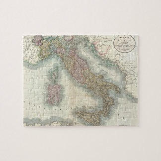 Mapa del vintage de Italia (1799) Rompecabeza