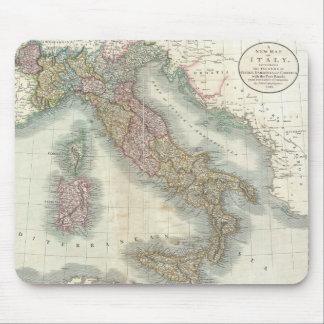 Mapa del vintage de Italia (1799) Tapete De Raton