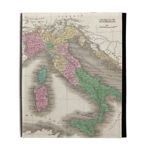 Mapa del vintage de Italia (1827)