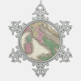 Mapa del vintage de Italia (1827) Adornos