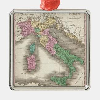 Mapa del vintage de Italia (1827) Ornamento De Navidad