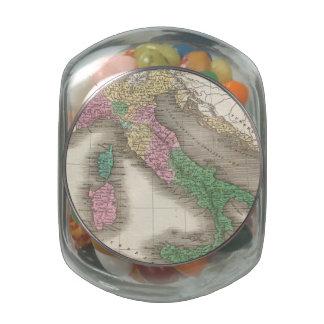 Mapa del vintage de Italia (1827) Frascos Cristal
