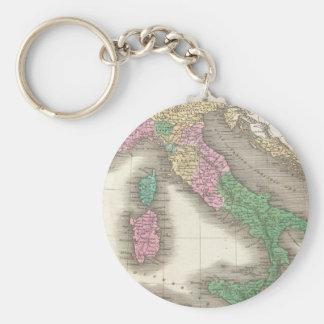 Mapa del vintage de Italia (1827) Llavero Redondo Tipo Pin