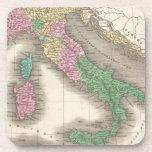 Mapa del vintage de Italia (1827) Posavasos