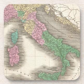 Mapa del vintage de Italia (1827) Posavasos De Bebidas