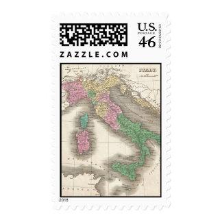Mapa del vintage de Italia 1827