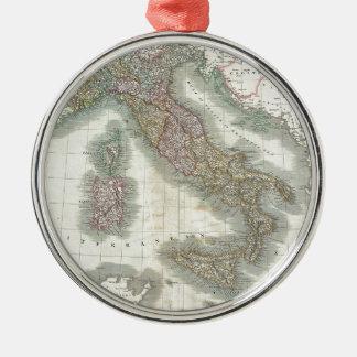 Mapa del vintage de Italia Ornamento Para Arbol De Navidad