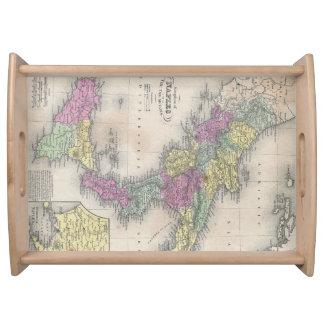 Mapa del vintage de Italia meridional (1853) Bandejas