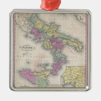 Mapa del vintage de Italia meridional (1853) Ornamento De Reyes Magos