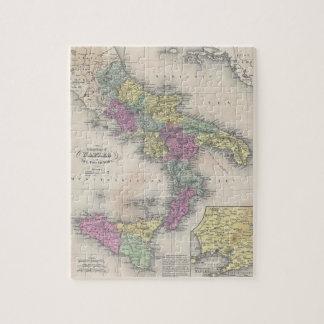 Mapa del vintage de Italia meridional (1853) Rompecabeza Con Fotos