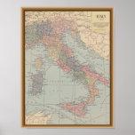 Mapa del vintage de Italia Posters