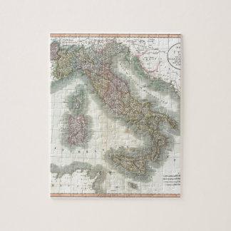 Mapa del vintage de Italia Rompecabezas Con Fotos