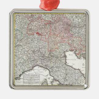 Mapa del vintage de Italia septentrional (1720) Ornamento Para Reyes Magos