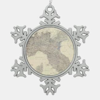 Mapa del vintage de Italia septentrional (1861) Adorno