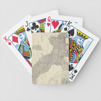 Mapa del vintage de Italia septentrional (1861) Baraja Cartas De Poker