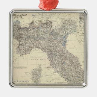 Mapa del vintage de Italia septentrional (1861) Ornamento Para Reyes Magos