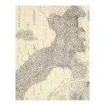 Mapa del vintage de Italia septentrional (1861) Membrete A Diseño