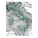 Mapa del vintage de Italia Tarjetas Postales