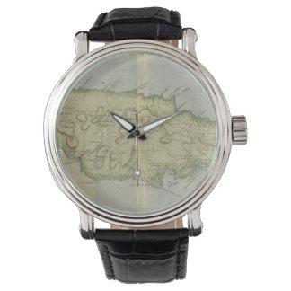 Mapa del vintage de Jamaica (1780) Reloj
