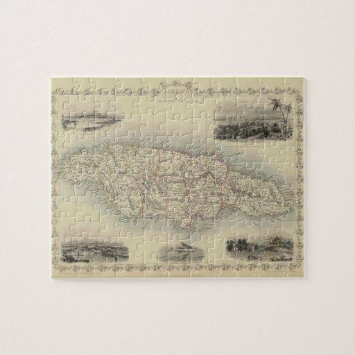 Mapa del vintage de Jamaica (1851) Puzzles