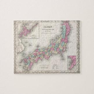 Mapa del vintage de Japón (1855) Rompecabezas Con Fotos
