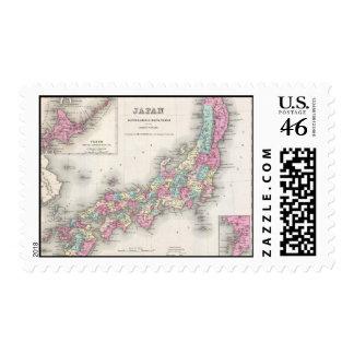 Mapa del vintage de Japón 1855