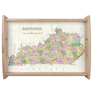 Mapa del vintage de Kentucky (1827) Bandeja