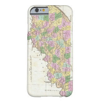 Mapa del vintage de Kentucky (1827) Funda De iPhone 6 Barely There