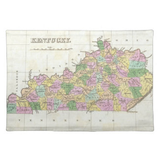 Mapa del vintage de Kentucky (1827) Manteles