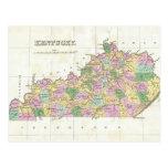 Mapa del vintage de Kentucky (1827) Postales