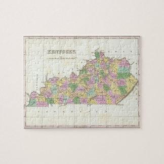 Mapa del vintage de Kentucky (1827) Puzzle Con Fotos