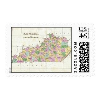 Mapa del vintage de Kentucky 1827